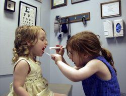 Kids playing doctor