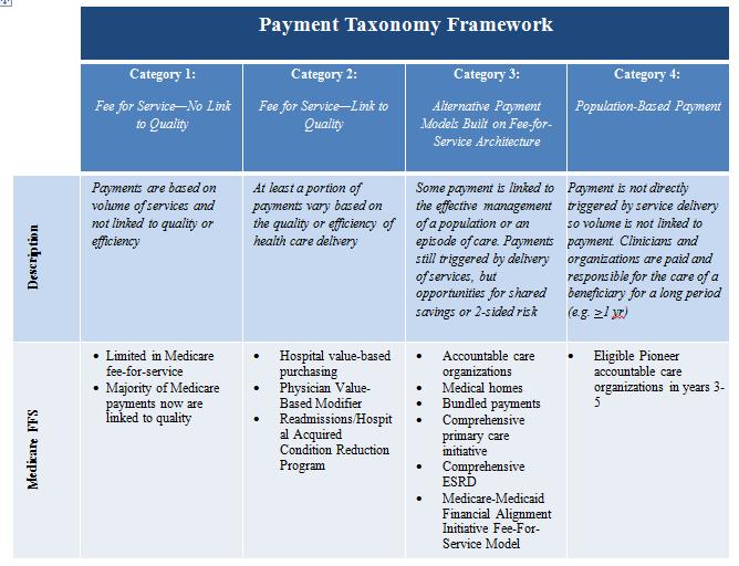 Payment taxonomy framework